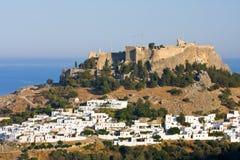 View at Lindos, Rhodes island Royalty Free Stock Photos