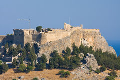 View at Lindos, Rhodes island Royalty Free Stock Images