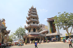 View of Linh Phuoc Pagoda Stock Photo