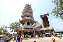 View of Linh Phuoc Pagoda Royalty Free Stock Images