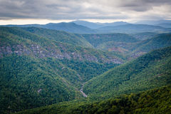 View of the Linville Gorge from Hawksbill Mountain, in Pisgah Na