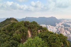 View of Lion Rock and New Kowloon in Hong Kong Stock Photo