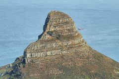 View of Lions Head from table mountain Royalty Free Stock Image