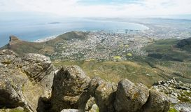 View of Lions Head from table mountain Royalty Free Stock Images