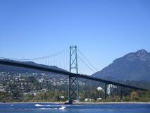 View of Lionsgate bridge in Vancouver, Canada Stock Image