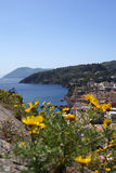 A view of Lipari. Lipari view from the fortification Stock Photos