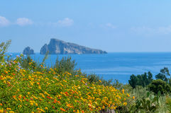 View from Lipari Stock Images