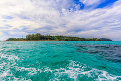A View of Lipe Island from the Boat, Satun, Thailand Stock Photo