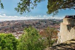 View of lisboa from Sao Jorge Castle. Stock Photos