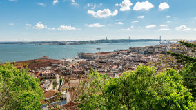 View of lisboa from Sao Jorge Castle. Royalty Free Stock Photos