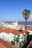 View of Lisbon. Panoramic view with the river Tagus in Lisbon, Portugal royalty free stock photos