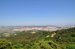 View of Lisbon from above Stock Photo