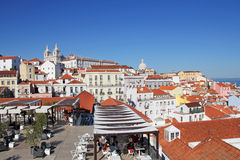 View of Lisbon architecture from Largo Portas do Sol Royalty Free Stock Images