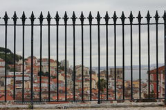 Panoramic view of Lisbon royalty free stock image