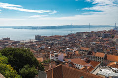 View of Lisbon from the Castle of St. George royalty free stock photos