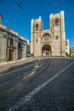View of Lisbon cathedral Stock Photography