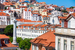 View of Lisbon City, Portuga Royalty Free Stock Photo