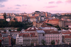 View of Lisbon in the evening Royalty Free Stock Images