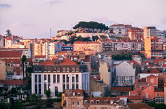 View of Lisbon in the evening Stock Image