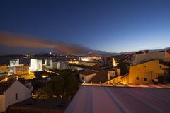 View of Lisbon at night Stock Image