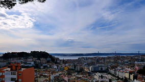 View of Lisbon, Portugal stock video