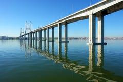 View of Lisbon's Vasco da Gama Bridge Royalty Free Stock Image