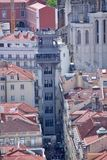 View of Lisbon. Santa Justa Elevator Royalty Free Stock Images