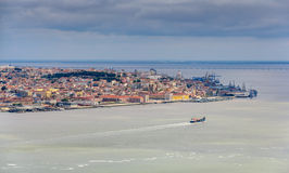 View of Lisbon with the Tagus Royalty Free Stock Photo