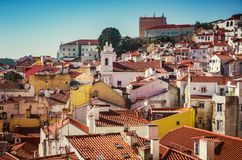 Alfama Rooftops Royalty Free Stock Images