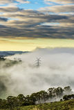 View from Lithgow countryside town in NSW Australia Royalty Free Stock Image