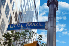 View of little brazil Street Royalty Free Stock Photography