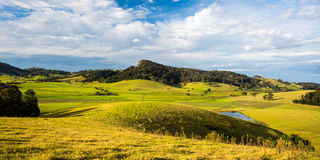 View of Little Dromedary. And surrounding fields near Tilba, New South Wales, Australia Royalty Free Stock Photography
