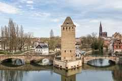 View on Little France district in Strasbourg royalty free stock images