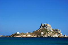 View on little island Kastri near Kos Stock Photos