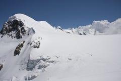 View of the little Matterhorn. Panorama of the Klein Matterhorn, Aosta Valley Stock Image