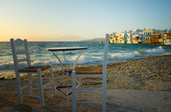 View of Little Venice in Mykonos Royalty Free Stock Photo