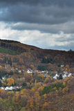 View of a little village in the Eifel in German. Stock Image