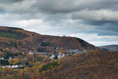 View of a little village in the Eifel in Germany. Royalty Free Stock Photos