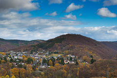 View of the little village Heimbach in Germany. Royalty Free Stock Image
