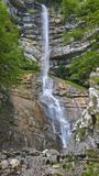 A view of little waterfall, by mount baldo. Hiew view little waterfall gerardo sega mount baldo royalty free stock image