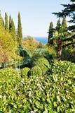 View of Livadia garden on South Coast of Crimea Stock Photos