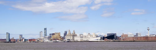 A View of Liverpool and the Mersey River Royalty Free Stock Photography