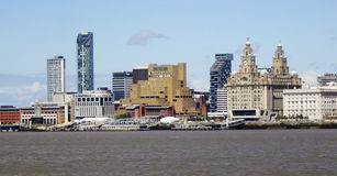 A View of Liverpool and the Mersey River Royalty Free Stock Images