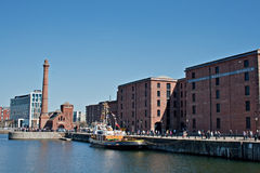 View of Liverpool's historic waterfront Stock Images