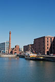 View of Liverpool's historic waterfront Royalty Free Stock Photos
