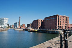 View of Liverpool's historic waterfront Royalty Free Stock Photography