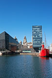 View of Liverpool's historic waterfront Royalty Free Stock Photo