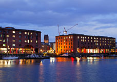 View of Liverpool's Historic Waterfront Stock Image