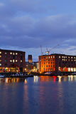 View of Liverpool's Historic Waterfront Royalty Free Stock Image