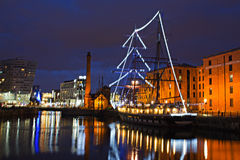 View of Liverpool's Historic Waterfront Stock Photography